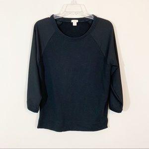 J. Crew Factory • Black Sweatshirt Size Small